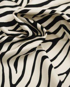 Cotton Pique Fabric - Zebra Print