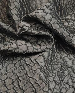 Polyester Jacquard Fabric - Silver Crocodile Effect