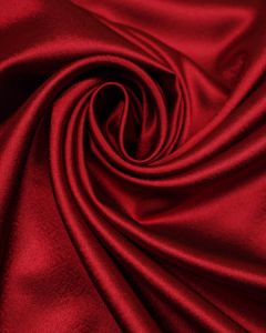 Polyester Satin Fabric - Crimson