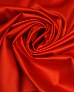 Stretch Satin Fabric - Tomato Red