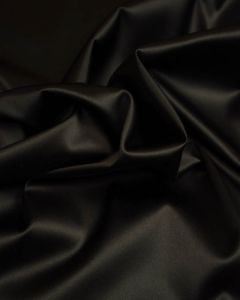 Stretch Satin Fabric - Black