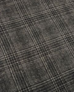 Wool Blend Fabric - Glen Plaid Charcoal