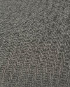 Wool Suiting Fabric - Herringbone Grey