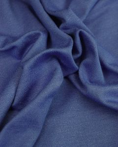 Viscose Crepe Jersey Fabric - Mid Blue
