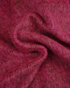Faux Mohair Jersey Fabric - Magenta
