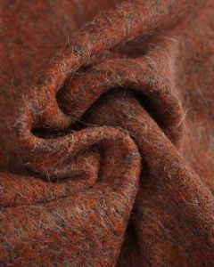 Faux Mohair Jersey Fabric - Burnt Orange