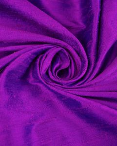 Indian Shot Silk Dupion Fabric - Purple & Blue