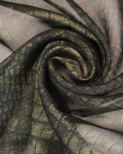 Polyester Chiffon Fabric - Crocodile Print