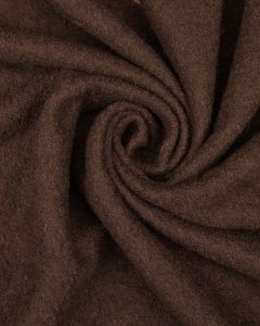 Wool & Viscose Jersey Fabric - Espresso
