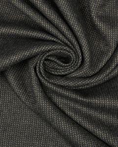 Wool Herringbone Suiting Fabric - Chocolate Brown
