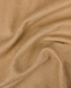 REMNANT Brushed Wool Jersey Fabric - Camel