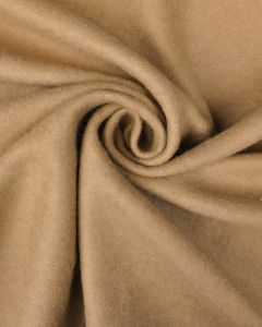 Brushed Wool Jersey Fabric - Camel