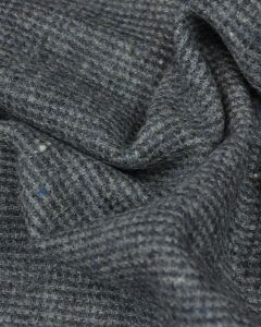 Wool Check Fabric - Blue & Grey