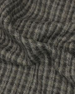 Wool Check Fabric - Slate Grey & Brown