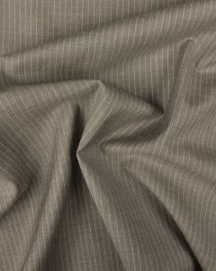 Cashmere & Wool Blend Suiting Fabric - Grey Pinstripe