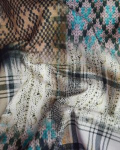 Soft Mouflon Coating Fabric - Knit Print