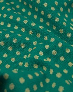 Polka Dot Knit Fabric - Green