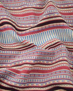 Cotton & Viscose Fabric - Aztec Stripe