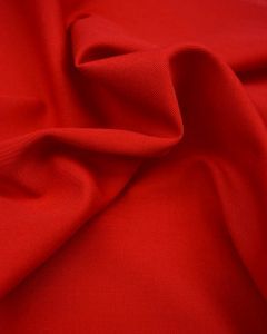 Pure Wool Suiting Fabric - Tomato Red