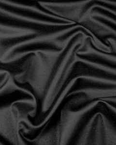 Brushed Wool Blend Jersey Fabric - Black