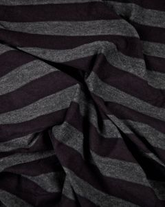 Polyester Blend Jersey Fabric - Mushroom & Grey Stripe