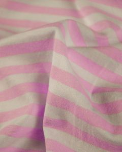 Cotton Blend Jersey Fabric - Pink Stripe