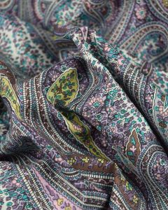 Cotton Lawn Fabric - Purple Multi Paisley