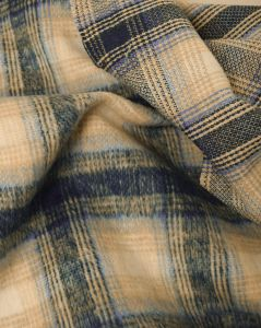 Polyester Coating Fabric - Blue Plaid