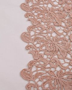Polyester Guipure Lace Fabric - Tea Rose Floral