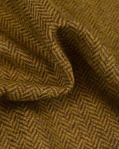 Pure Wool Donegal Tweed Fabric - Chartreuse Herringbone