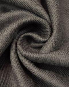 Virgin Wool Twill Fabric - Grey