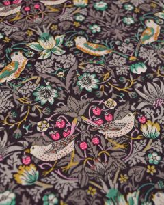 Liberty Tana Lawn Fabric - Strawberry Thief Green & Pink