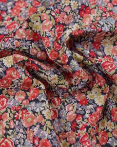 Liberty Tana Lawn Fabric - Chive in Red & Blue