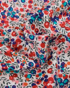 Liberty Tana Lawn Fabric - Wiltshire in Red & Purple