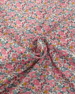 Liberty Tana Lawn Fabric - Betsy Ann in Pink