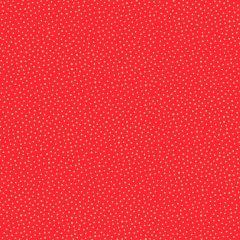 Christmas Patchwork Fabric - Santa Express - Snowball Red