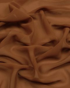Polyester Georgette Fabric - Brown