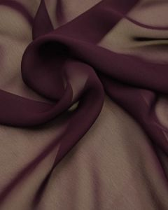 Polyester Georgette Fabric - Plum Purple