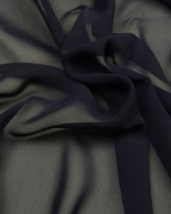 Polyester Georgette Fabric - Navy Blue