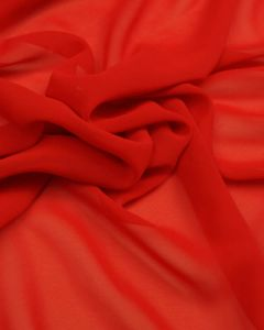 Polyester Georgette Fabric - Tomato Red