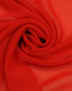 REMNANT Tomato Red Chiffon Fabric - 190cm x 150cm