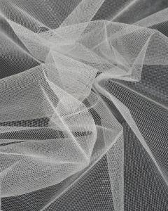 Shimmer Tulle Fabric - White