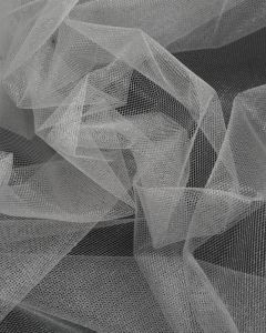 Shimmer Tulle Fabric - Silver
