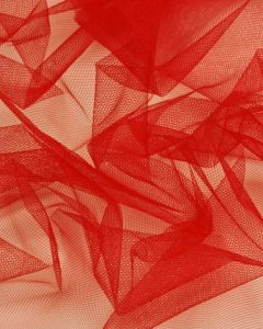 Shimmer Tulle Fabric - Tomato Red