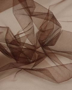 Shimmer Tulle Fabric - Brown