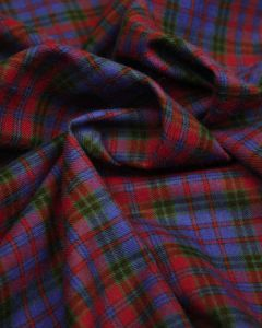 Brushed Cotton Fabric - Blue & Red Plaid