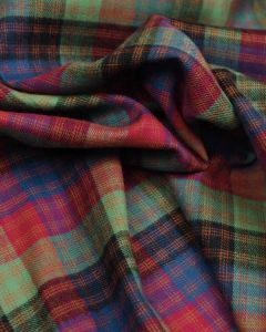 Brushed Cotton Fabric - Montague Tartan
