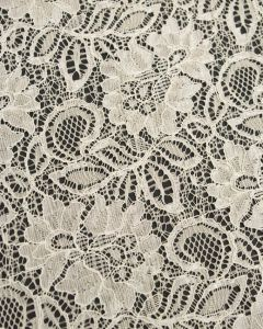 Corded Lace Fabric - Cream