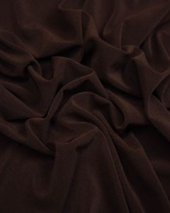 Polyester Jersey Fabric - Dark Chocolate