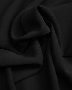 Polyester Crepe Suiting Fabric - Black